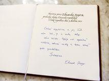 Eduard Heger, podpis,