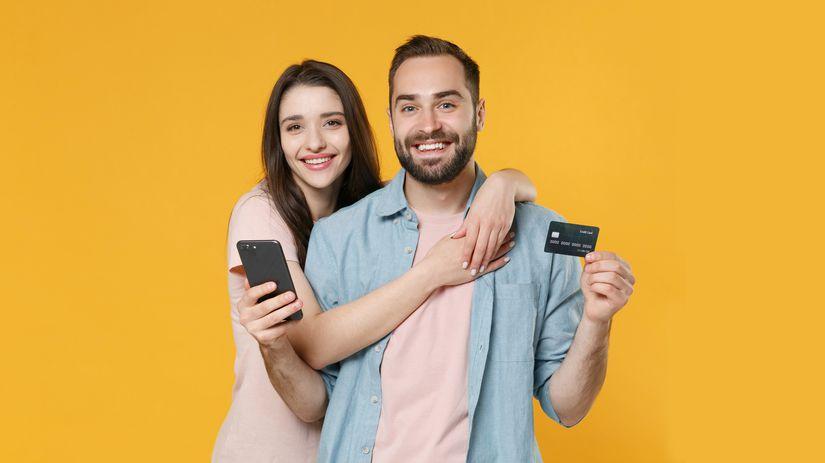 muž, žena, manželia, kreditná karta, debetná...