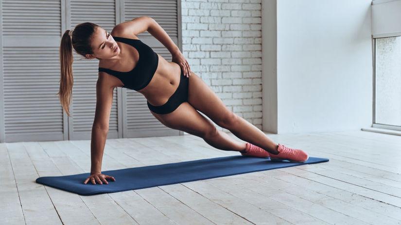 plank, žena, tréning, cvičenie, postava