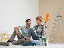 manželia, maľovanie, rekonštrukcia, plánovanie