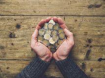 ruky, euro, mince, chudoba