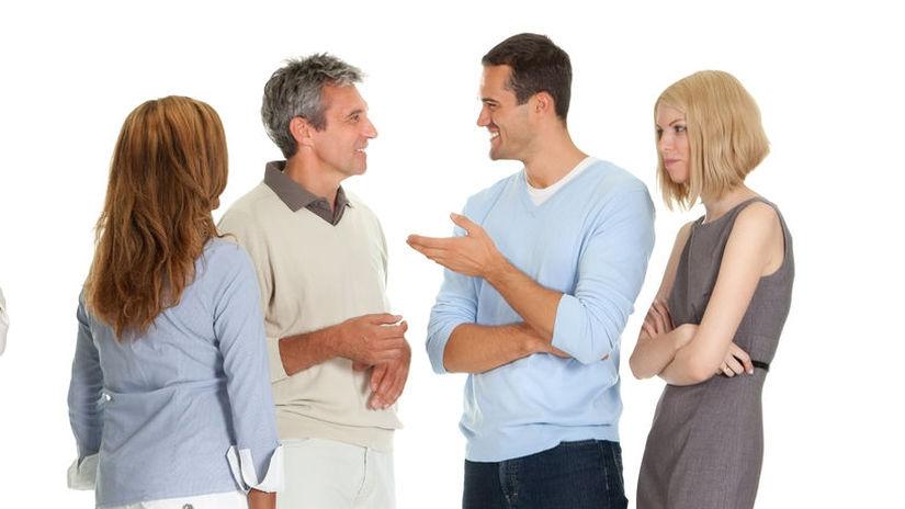 ľudia, skupina, hádka, rozhovor