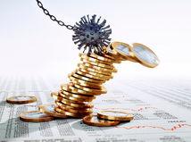 koronavírus, euro, mince, peniaze, kríza