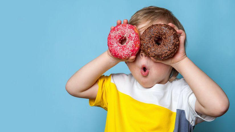 dieťa, šišky, donut, nadváha, obezita,...