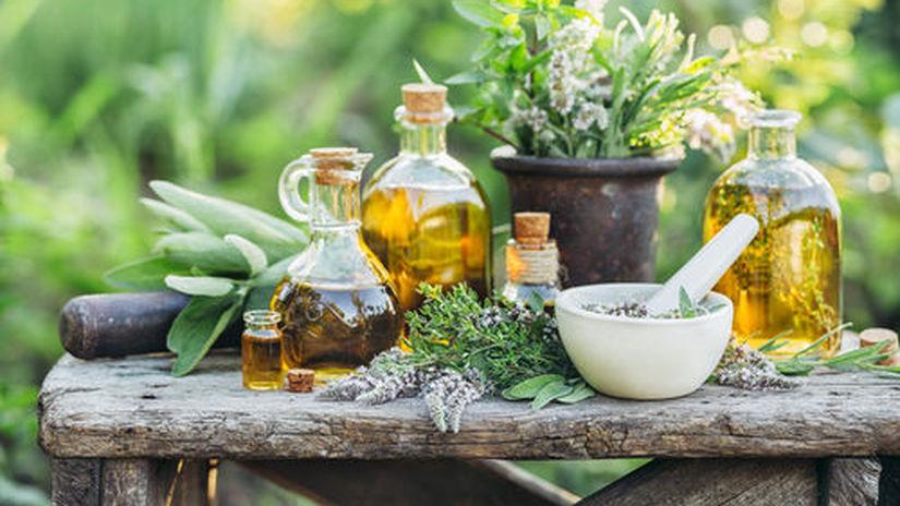 bylinky a olej