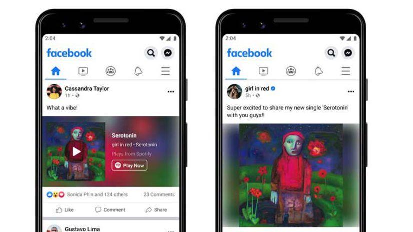 Facebook, Spotify, hudobná služba