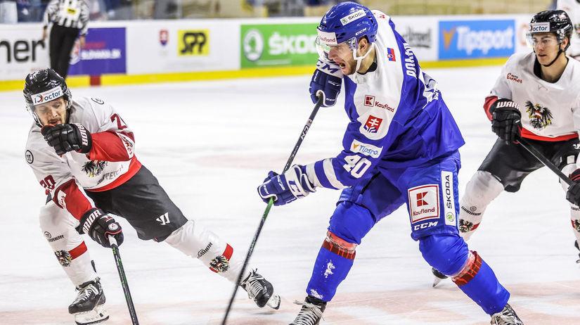 SR hokej MS2021 príprava Rakúsko