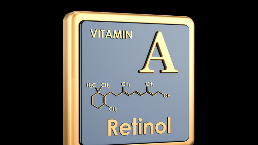 vitamín A, retinol, molekula