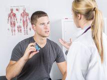 astma, doktorka, astmatik, inhalátor