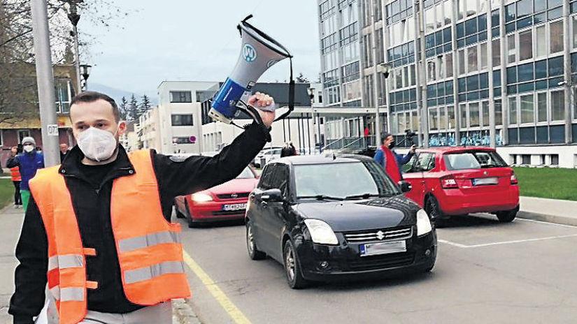 Martin, parkovanie, protest