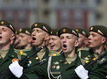 Moskva, prehliadka, vojaci