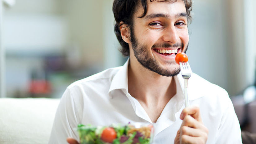 muž vegetarián