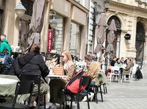 počasie, terasy, reštaurácie, Bratislava
