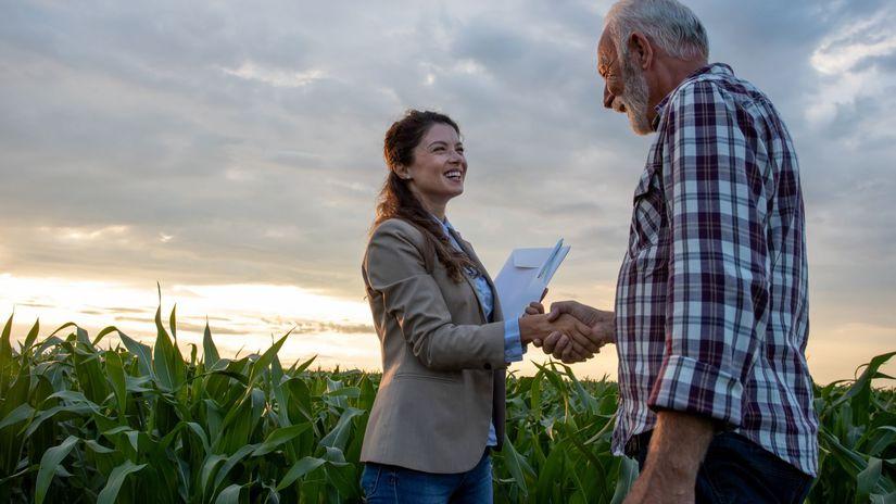 žena, farmár, pôda, papier, zmluva, radosť,...