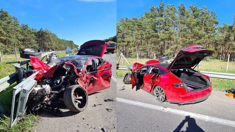 Tesla, nehoda