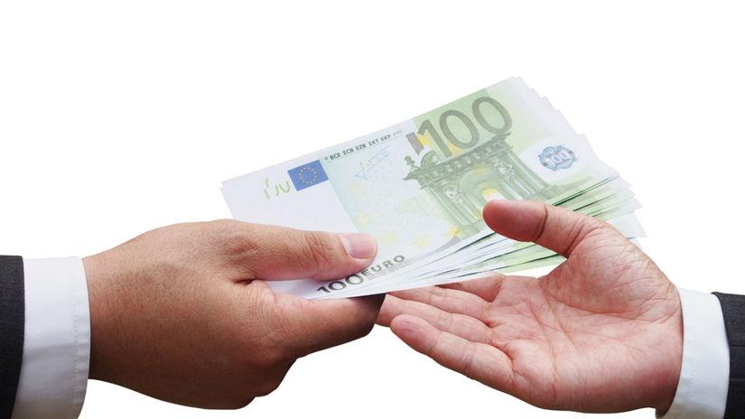 ruky, peniaze, euro, bankovky, platba