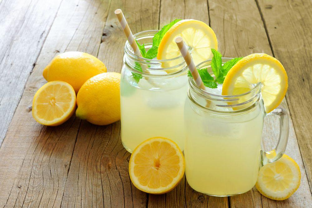 mäta, limonáda, citrón,