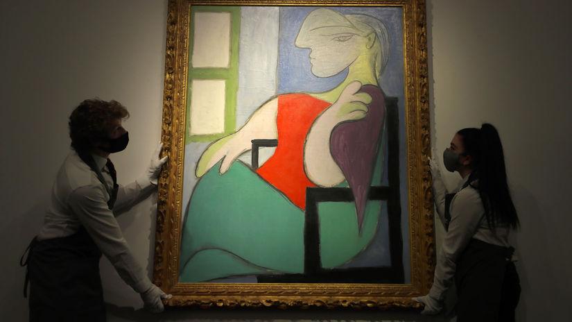 Británia USA Picasso obraz dražba