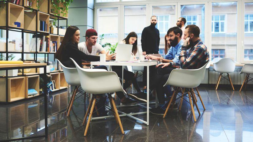 skupina, tím, diskusia, práca, spolupráca