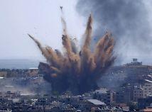 gaza útok izrael palestína nálet výbuch