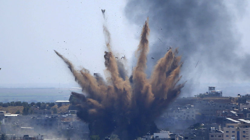 Izrael, Palestínčania, armáda, útok, raketový,...