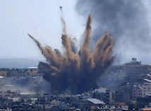 Izrael, Palestínčania, armáda, útok, raketový, ofenzíva
