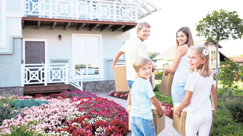 rodina, dom, záhrada, sťahovanie