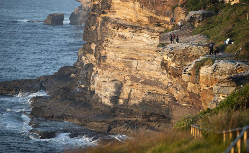 Austrália, more, útes, rybári