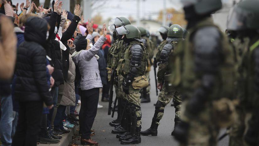 Bielorusko / Minsk / Protesty / Lukašenko /