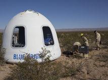 USA vesmír Blue Origin let prvý posádka