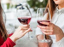 víno, ženy, kamarátky, oslava, žena, alkohol
