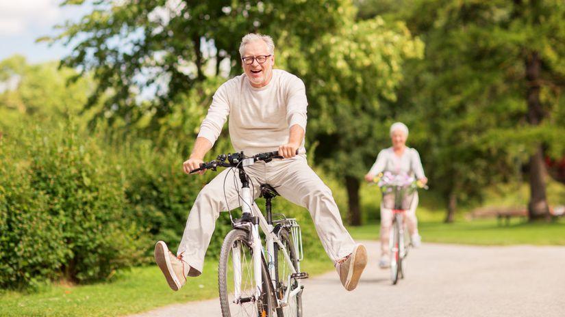 šport, zábava, seniori, bicykel, pohyb, príroda