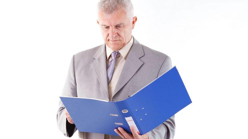 právnik, muž, fascikel, práca, čítanie, oblek