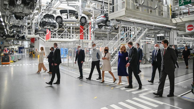 Zuzana Čaputová na návšteve Volkswagenu