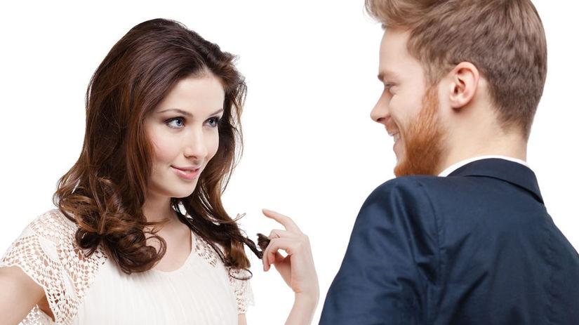 žena, muž, rande, zvádzanie, flirtovanie