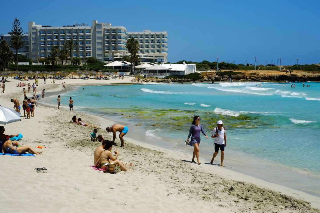 Cyprus, hotel, more, pláž, dovolenka