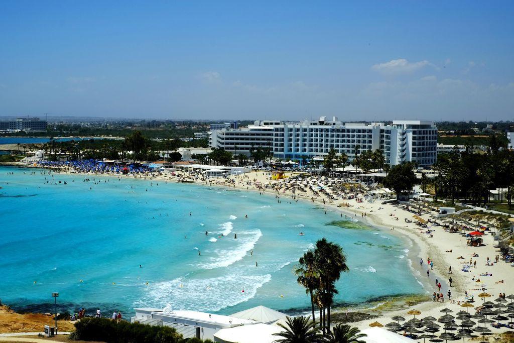 Cyprus, more, pláž, dovolenka, hotely