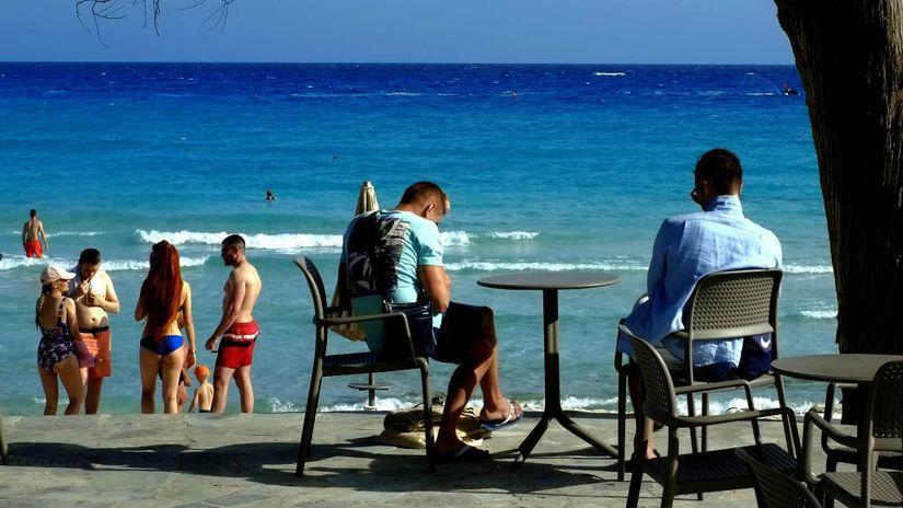 Cyprus, pláž, dovolenka, more