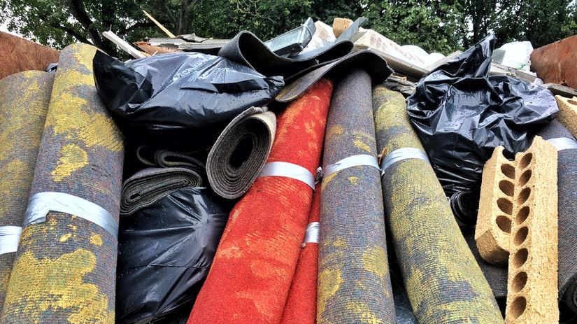 odpad, koberec, koberce, smetisko