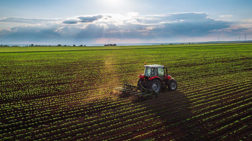 traktor, pole, pozemok