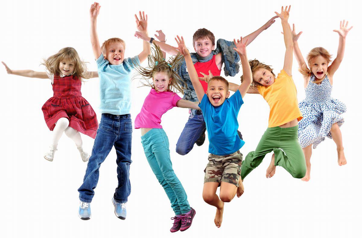 deti, skákanie, radosť
