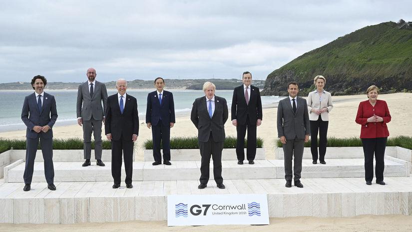 Británia EÚ USA G7 summit Biden johnson
