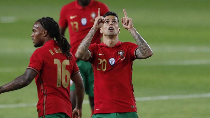 Portugalsko Futbal ME2020 Cancelo koronavírus