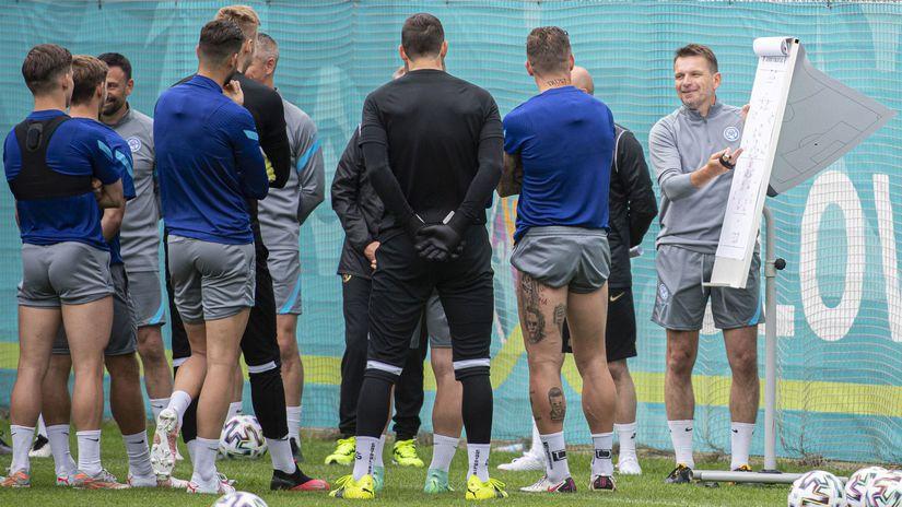 Rusko Petrohrad SR Repre Futbal ME2020 Tréning