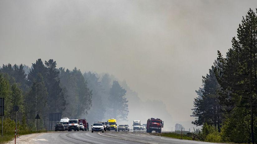 rusko sibír požiar dym