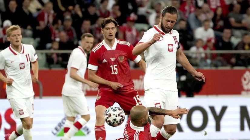 Poľsko Futbal ME2020 príprava Rusko