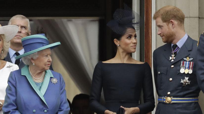 princ Harry, vojvodkyňa Meghan, kráľovná...