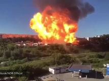 výbuch čerpacej stanice Novosibirsk