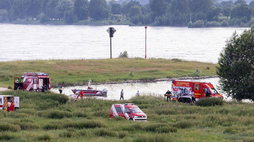 Nemecko Duisburg záchrana rýn