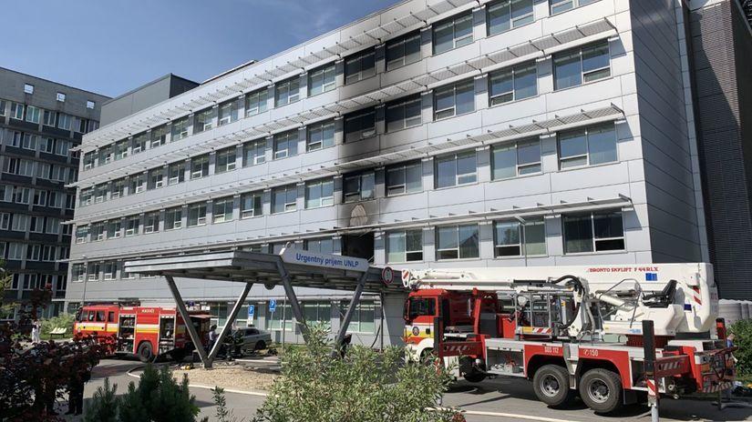 oheň, nemocnica, Košice